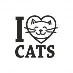 """Naklejka """"I Love Cats"""" - NK002"""