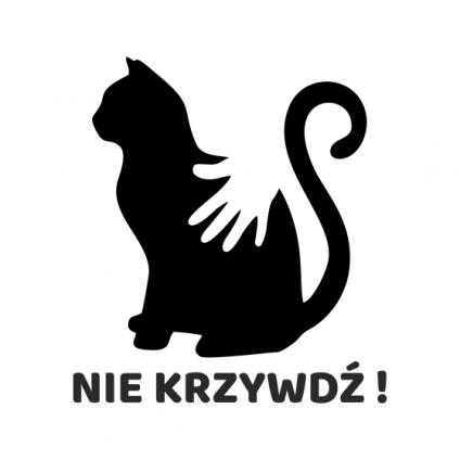 """Naklejka """"Kot-Nie krzywdź!""""..."""