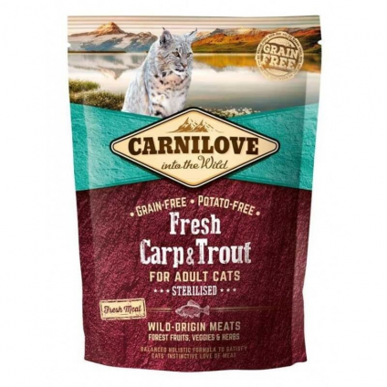 CARNILOVE CAT FRESH CARP &...